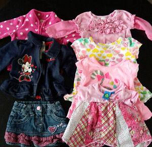 Lot vêtements pour filles 0-6 mois
