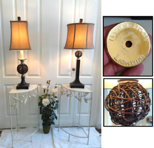 2 Gorgeous Uttermost Lighting, 3-Way Table Lamps (TEXT/CALL Pls)