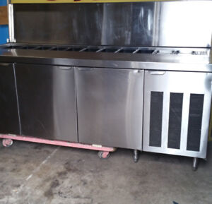 SANDWICH PREP TABLE WITH COOLER FOR SALE