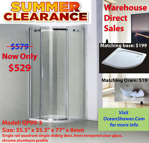 Glass Sliding Shower Enclosure Corner Shower Stalls