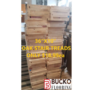 OAK STAIR TREADS ONLY $18.99 ~ RISERS ONLY $4.99