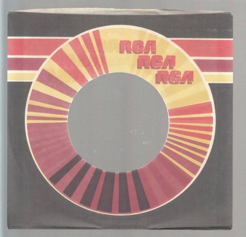 Company Sleeve 45 Rca Grey/red/orange/yellow Logo 2 On