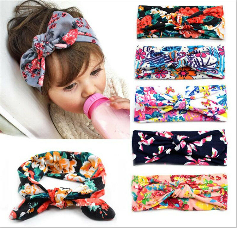20Pcs Kids Baby Girl Toddler Bow Polka Dot Headband Hair Band Headwear Head Wrap