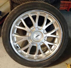 4 mags TSW pneus 205-45-16, Bolt pattern: 4 trous 4x100 mm et 4x
