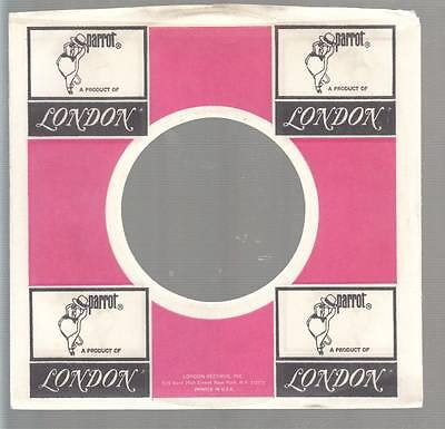 Company Sleeve 45 PARROT/LONDON White/Pink w/ Black Logos In Corner on