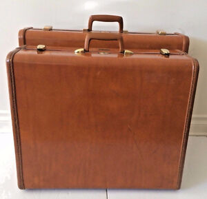 Two Vintage Samsonite of Canada Luggage Travel Suitcases