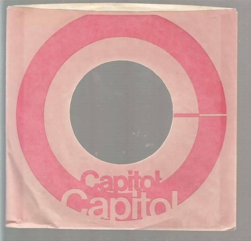 Company Sleeve 45 Capitol Pink W/ Red Circle On