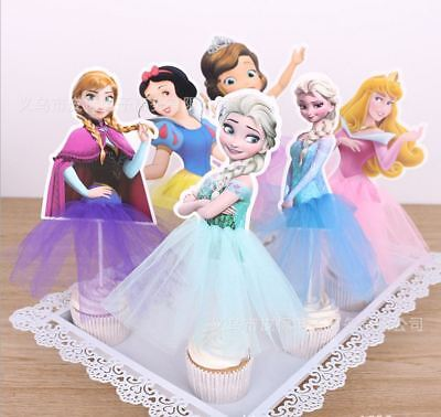 Princess Elsa Anna Frozen Cake Ice cream Topper Kids Birthday Party Decoration  - Frozen Cake Decor