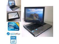 PRICE REDUCED - Toshiba Flip Screen Laptop/Tablet - AntiVirus, Intel Core2Duo, Wifi
