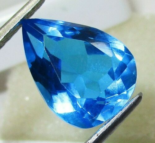 Blue Topaz Loose Gemstone Certified 6.60 Ct
