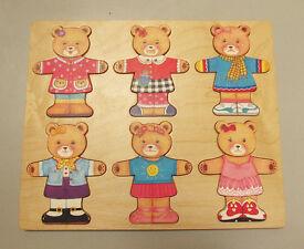 Wooden Bear Shape Sorter Puzzle Board