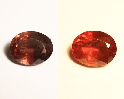 3.46ct Colour Change Garnet - Custom Cut Gem with Rare Superb Colour Change