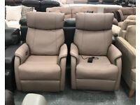 Electric recliner leather swivel chairs