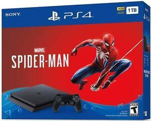 PlayStation 4 Slim 1TB - Marvels Spider-Man Edition brand new sealed at discounted price