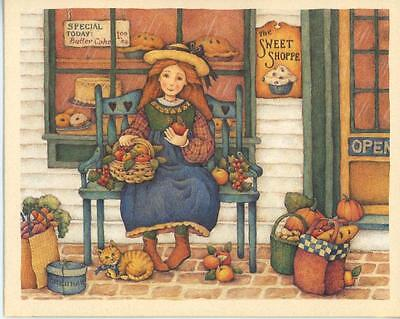 ICELANDIC HORSE FARM COWS DAFFODILS & COUNTRY STORE CAT PUMPKINS BAKERY 1 CARD