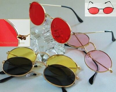 Small Lightweight Wire Rim Gold + More Metal Frame Sunglasses_ Oval Lens Glasses