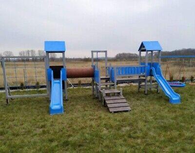 Área de Juegos Tobogán Torre Escalada Holzturm Casa Parque Infantil Exterior