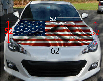 American Flag Hood Wrap Sticker Vinyl Decal Car Truck SUV Graphic