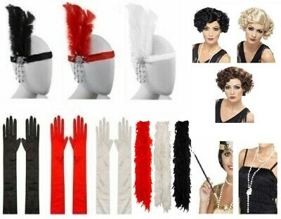 Ladies Gatsby Fancy Dress Accessories Flapper 20's Charleston Girl Costume Kits ()