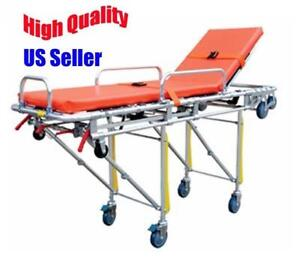 Ambulance Stretcher Belt Foldable Wheels Portable Equipment Emergency Wheelchair