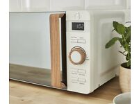 Swan, Nordic Digital Microwave, Wood Effect Handle, Soft Touch - £30 New & Unboxed