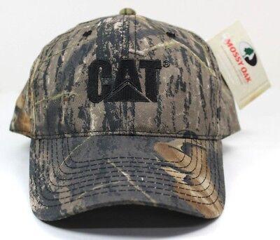 CAT Caterpillar Embroidered Logo Mossy Oak Camo Baseball Cotton Cap Hat NEW