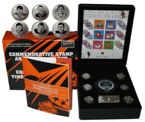 Brand new stamp and coin set $89.99 list NHL all star history