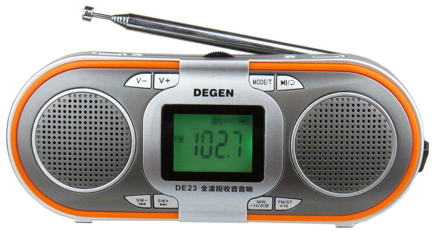 Degen DE23 Rechargeable AM/FM Shortwave Radio with Dual Spea