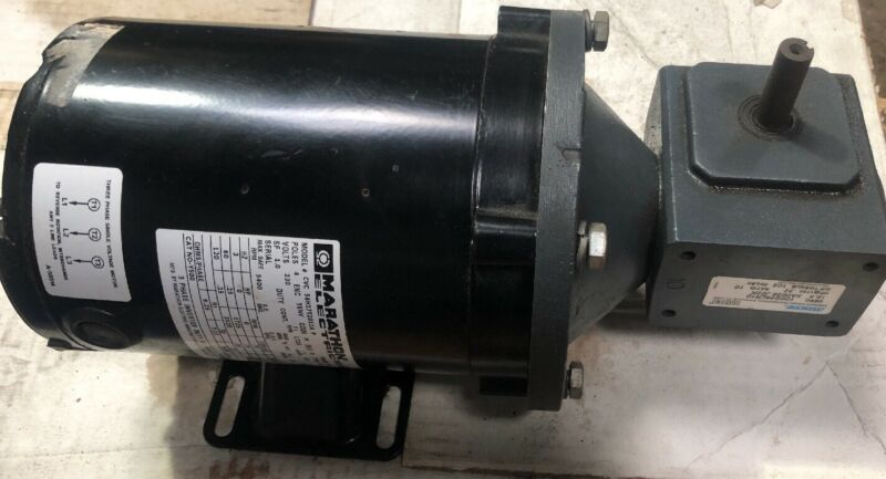 MARATHON CVC 56H17T2011A 1/4 HP AC INDUCTION MOTIR W/ EMERSON SPEED REDUCER