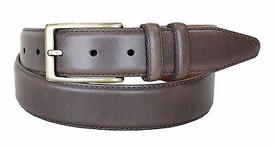 Lejon Belt Men's Smooth Genuine Leather Dress Belt 1-3/8