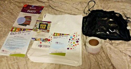 Usborne Books & More Business Supplies Lot UBAM Bags Organizer Book Plates Fair