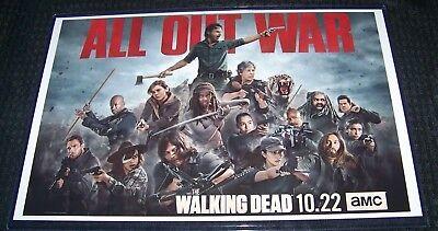 The Walking Dead Season 8 11X17 TV Poster All Out War Landscape