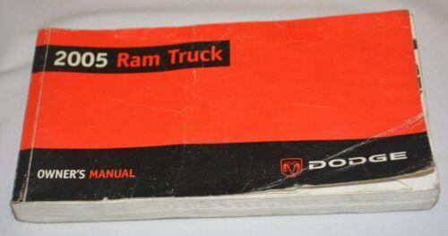 2005 DODGE RAM TRUCK OWNERS MANUAL BOOK