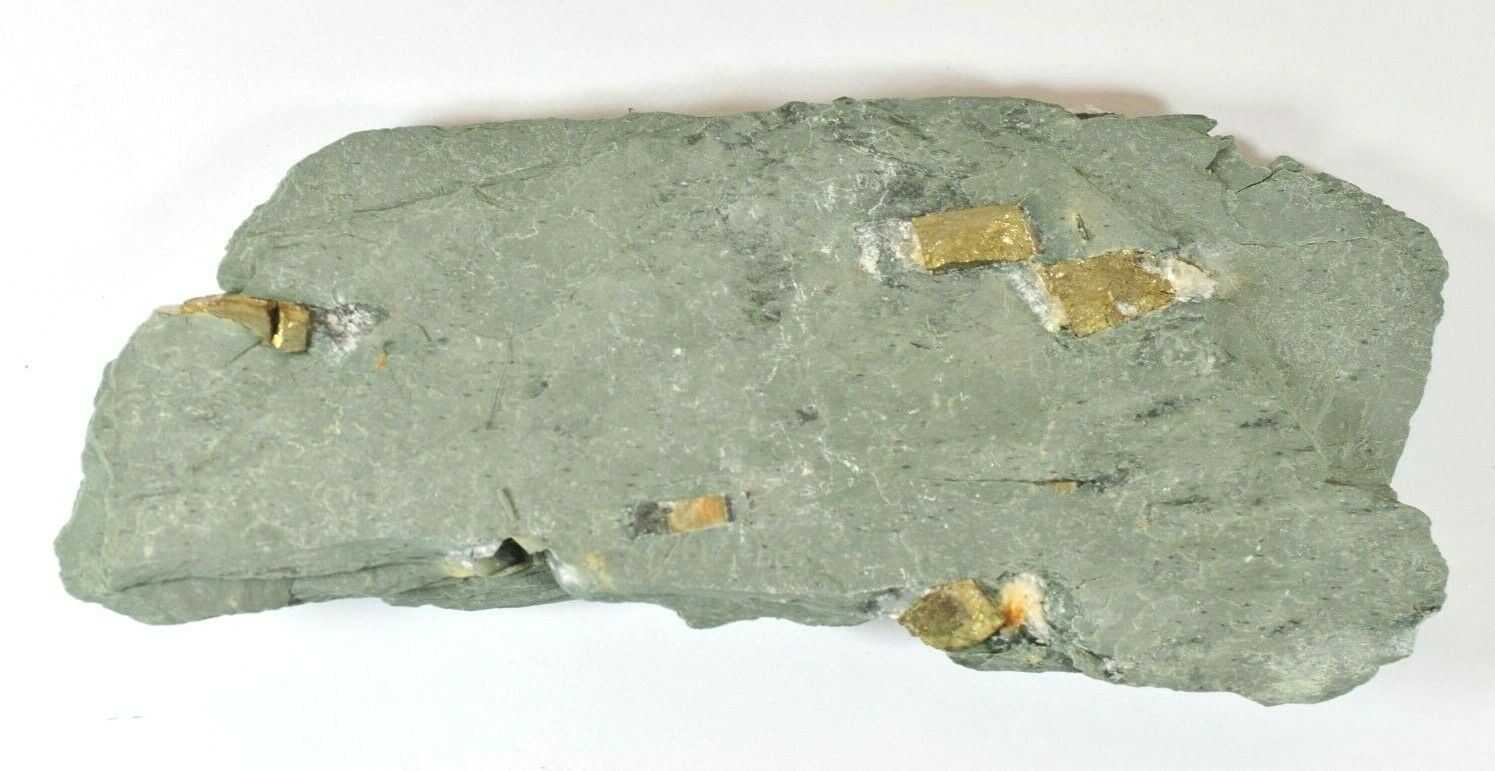 LARGE SPECIMEN NATURAL SLATE WITH PYRITES CRYSTALS - DOROTHEA QUARRY, WALES #a