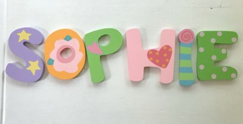 Tatutina Wooden Pastel Letters Decorative Wall Hanging Name SOPHIE