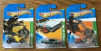 HOT WHEELS Treasure Hunt's(Lot of 3)2011OCC Splitback,2012 Ducati & 69 Chevelle