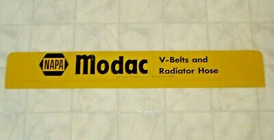 Vintage NAPA Modac V-Belts & Radiator Hose Tin / Metal Store Display Rack Sign