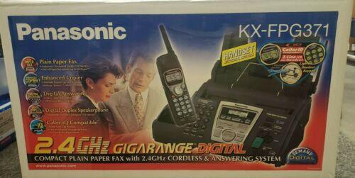 Panasonic KX-FPG371 Plain Paper Fax Cordless Phone Digital Answering System NEW