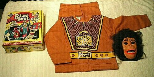 1974 PLANET OF THE APES Ben Cooper KIDS COSTUME Cos Play Suit #501 CAESAR w/ Box