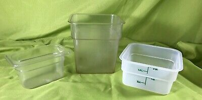 Cambro Food Containers Lot Of 3 Plastic Camwear Food Storage Containers