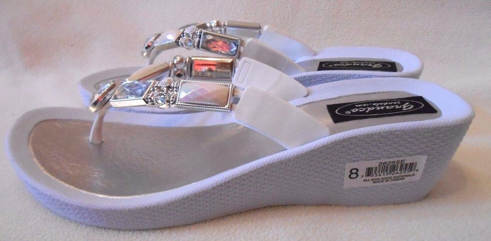 2db46bf90fee6 GRANDCO SANDALS Beach Pool THONG BLING Black Frosted    JEWELED DRESSY Flip  Flops