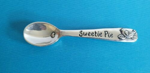 "Basic Spirit Baby Feeding Spoon ""Sweetie Pie"" Cast Metal 4.5""  Canada"