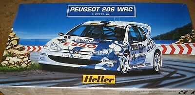 New Heller Peugeot 206 WRC Esso 1/43 model kit