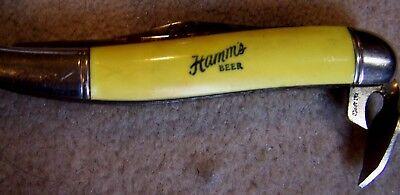 VINTAGE HAMM'S Beer POCKET KNIFE CAN OPENER HAMMS BLUE EARTH MINNESOTA Sign Bar