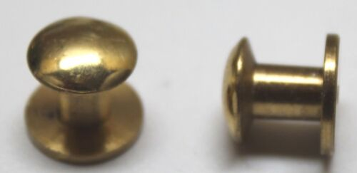 WWII STYLE  Brass Rifle Sling Buttons 1/2 in L x 9/16in w x 1/4in Lot of 2 E2107