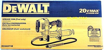 New Dewalt DCGG571B 20V Cordless Battery Grease Gun 20 Volt Max In Box Li-Ion