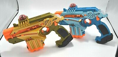 NERF Phoenix LTX Lazer Tag Game Gold & Blue 2 Pack: Indoor, Outdoor, Multiplayer