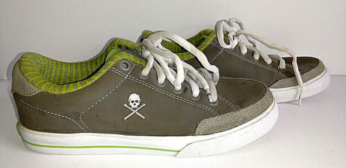 Shoes Circa Lopez Skateboarding Womens Sneakers ALW50 Size 8 Green Gray Low Top
