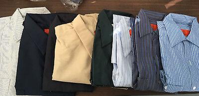 Mens Shirt Work uniform 2x 3x 4x 5x 6x blue gray green white Tan NEW cotton Tan Uniform Shirt