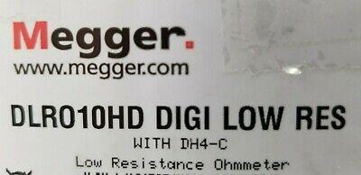 Megger Dlro10hd Ohmmeter W Dh4c Leads Manual Case Cd New In Box